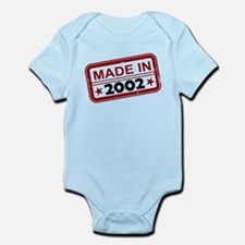 Stamped Made In 2002 Infant Bodysuit