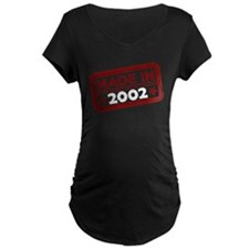 Stamped Made In 2002 Dark Maternity T-Shirt
