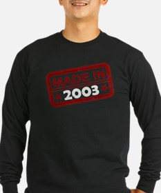 Stamped Made In 2003 T