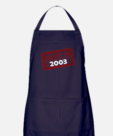 Stamped Made In 2003 Dark Apron