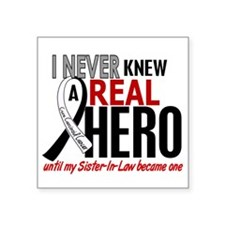 """Carcinoid Cancer Real Hero Square Sticker 3"""" x 3"""""""