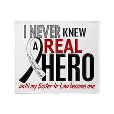 Carcinoid Cancer Real Hero 2 Throw Blanket