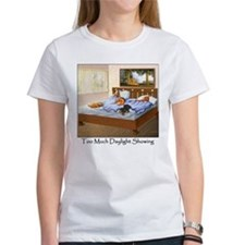 Dachshunds Sleep In Organic Cotton Tee T-Shirt
