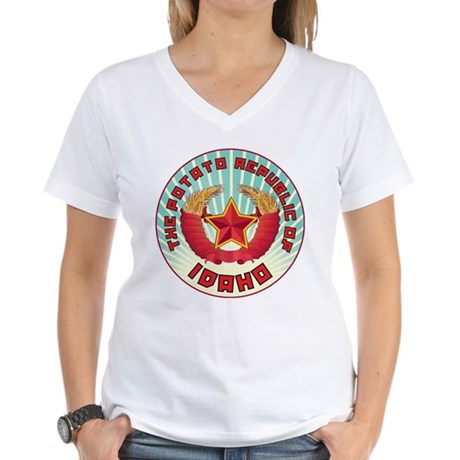 Potato Republic of Idaho Women's V-Neck T-Shirt