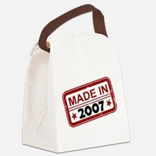 Stamped Made In 2007 Canvas Lunch Bag
