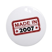 Stamped Made In 2007 Round Ornament
