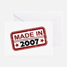 Stamped Made In 2007 Greeting Card