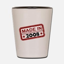 Stamped Made In 2008 Shot Glass