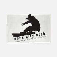 Park City Snowboarding Magnet