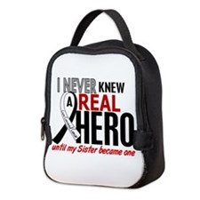 Carcinoid Cancer Real Hero 2 Neoprene Lunch Bag
