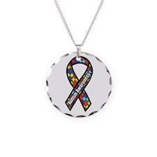 Awareness Ribbon Scanned Necklace