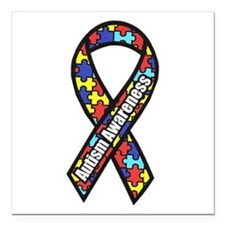 Awareness Ribbon Scanned Square Car Magnet 3""