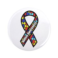 """Awareness Ribbon Scanned 3.5"""" Button (100 Pac"""