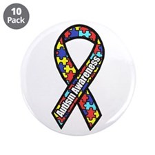 """Awareness Ribbon Scanned 3.5"""" Button (10 Pack"""