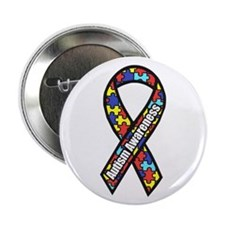 "Awareness Ribbon Scanned 2.25"" Button (10 Pac"