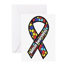 Awareness Ribbon Scanned 2.png Greeting Cards