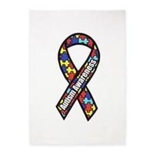 Awareness Ribbon Scanned 2.png 5'x7'area Rug