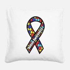 awareness ribbon scanned 2.png Square Canvas Pillo