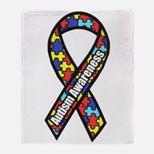 Awareness Ribbon Scanned 2.png Throw Blanket