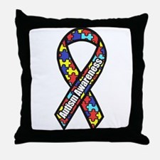 awareness ribbon scanned 2.png Throw Pillow
