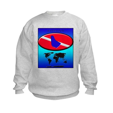 Barbados Dive Flag Kids Sweatshirt