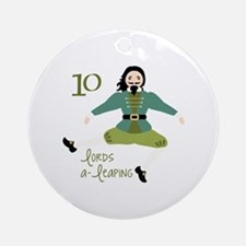 10 loRDS a- leaPiNG Ornament (Round)