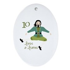 10 loRDS a- leaPiNG Ornament (Oval)