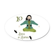 10 loRDS a- leaPiNG Oval Car Magnet