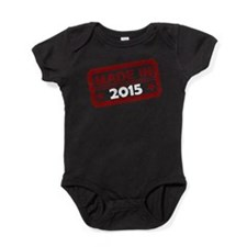 Stamped Made In 2015 Baby Bodysuit
