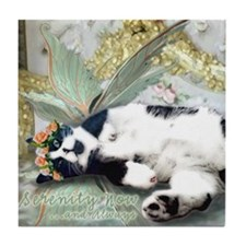 Tuxedo Cat Fairy Tile Coaster