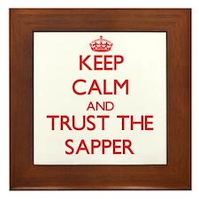 Keep Calm and Trust the Sapper Framed Tile
