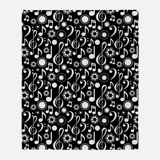 Music Notes And Clefs Throw Blanket