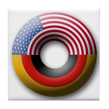 USA - Germany Tile Coaster