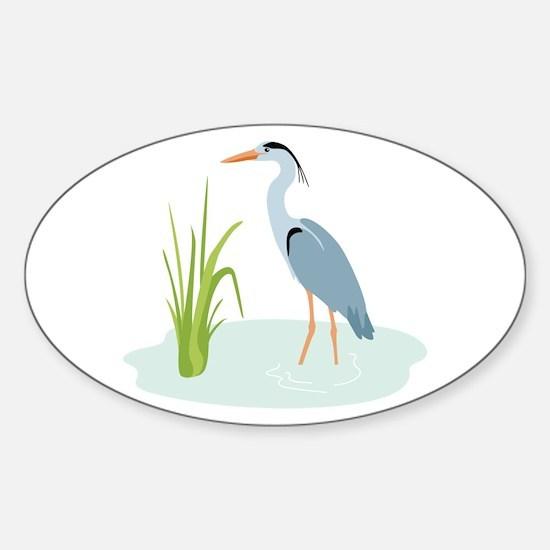 Blue Heron Decal