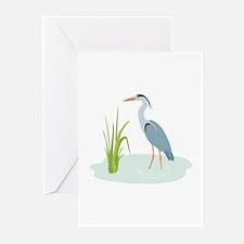 Blue Heron Greeting Cards
