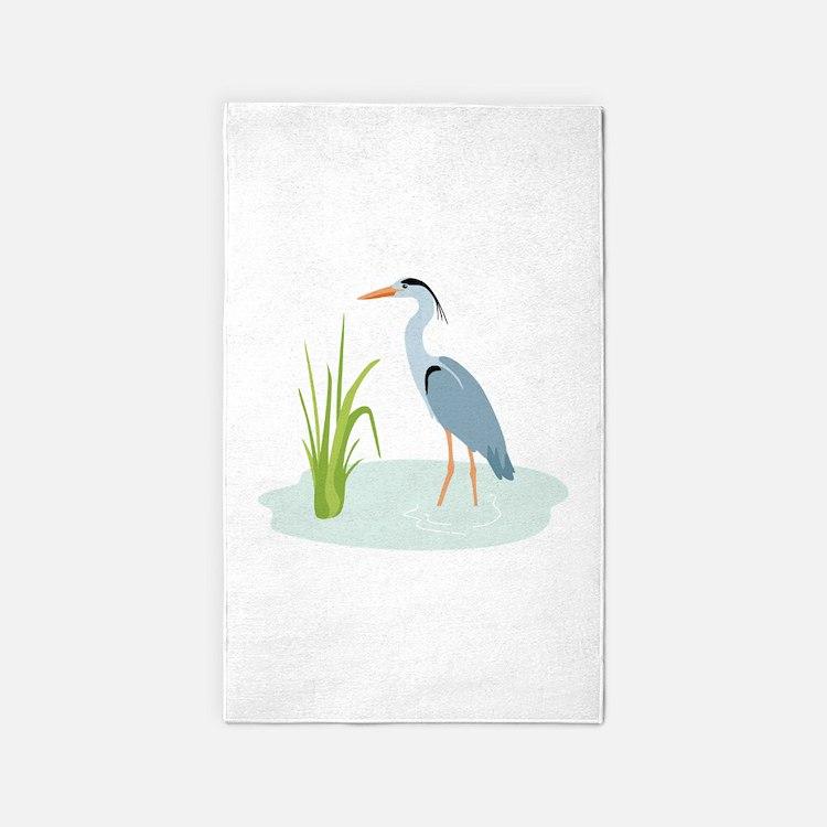 Blue Heron 3'x5' Area Rug