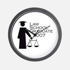 Law School Graduate 2007 Wall Clock