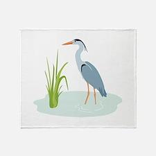 Blue Heron Throw Blanket