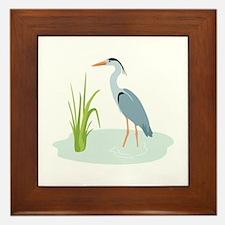 Blue Heron Framed Tile