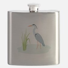 Blue Heron Flask
