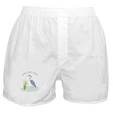 Great Blue Heron Boxer Shorts