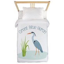 Great Blue Heron Twin Duvet