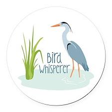 Bird Whisperer Round Car Magnet