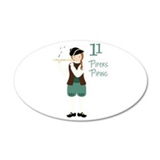 11 PiPeRS PiPiNG Wall Decal