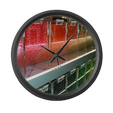 Customizable Wall of Rainbow Jell Large Wall Clock