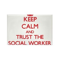 Keep Calm and Trust the Social Worker Magnets