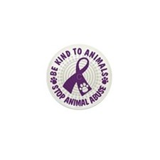 Purple Ribbon Be Kind to Animals Mini Button