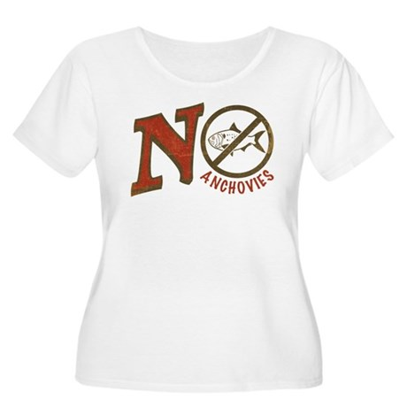 No Anchovies Women's Plus Size Scoop Neck T-Shirt
