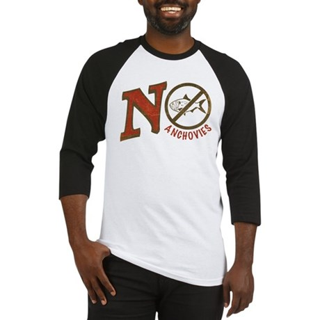 No Anchovies Baseball Jersey