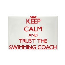 Keep Calm and Trust the Swimming Coach Magnets